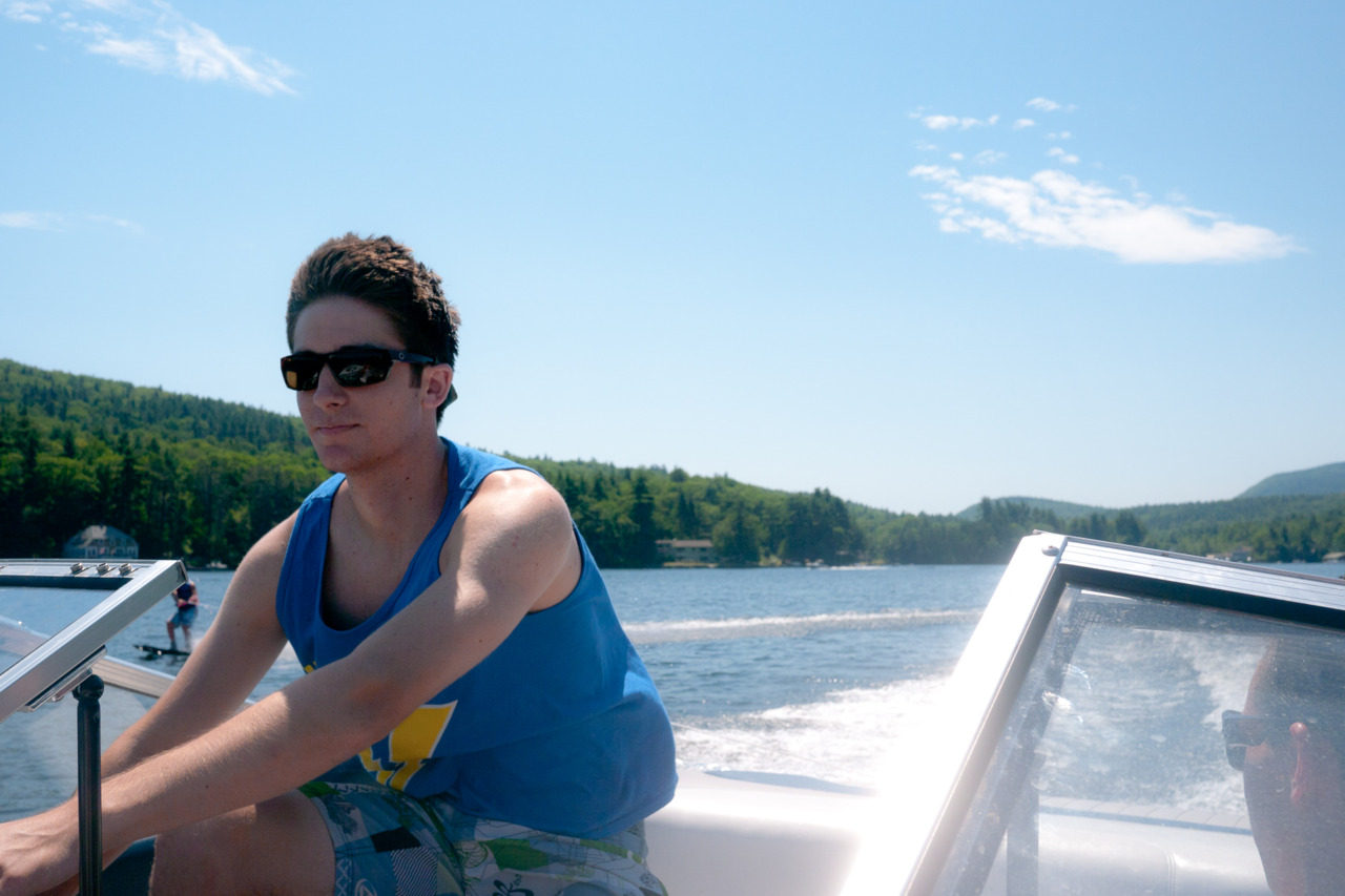 Cruising around Lake Sunapee