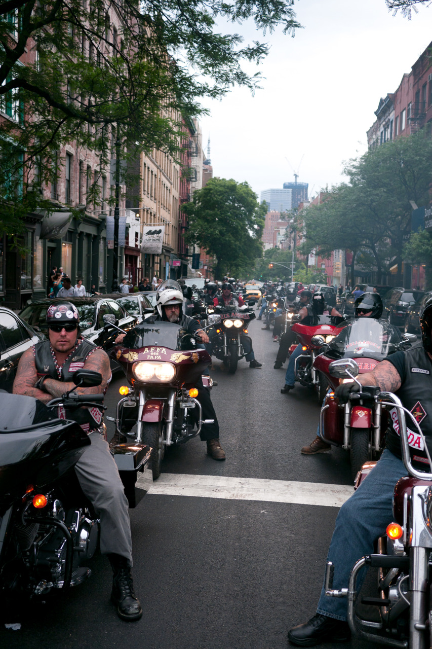 Bikers in SoHo