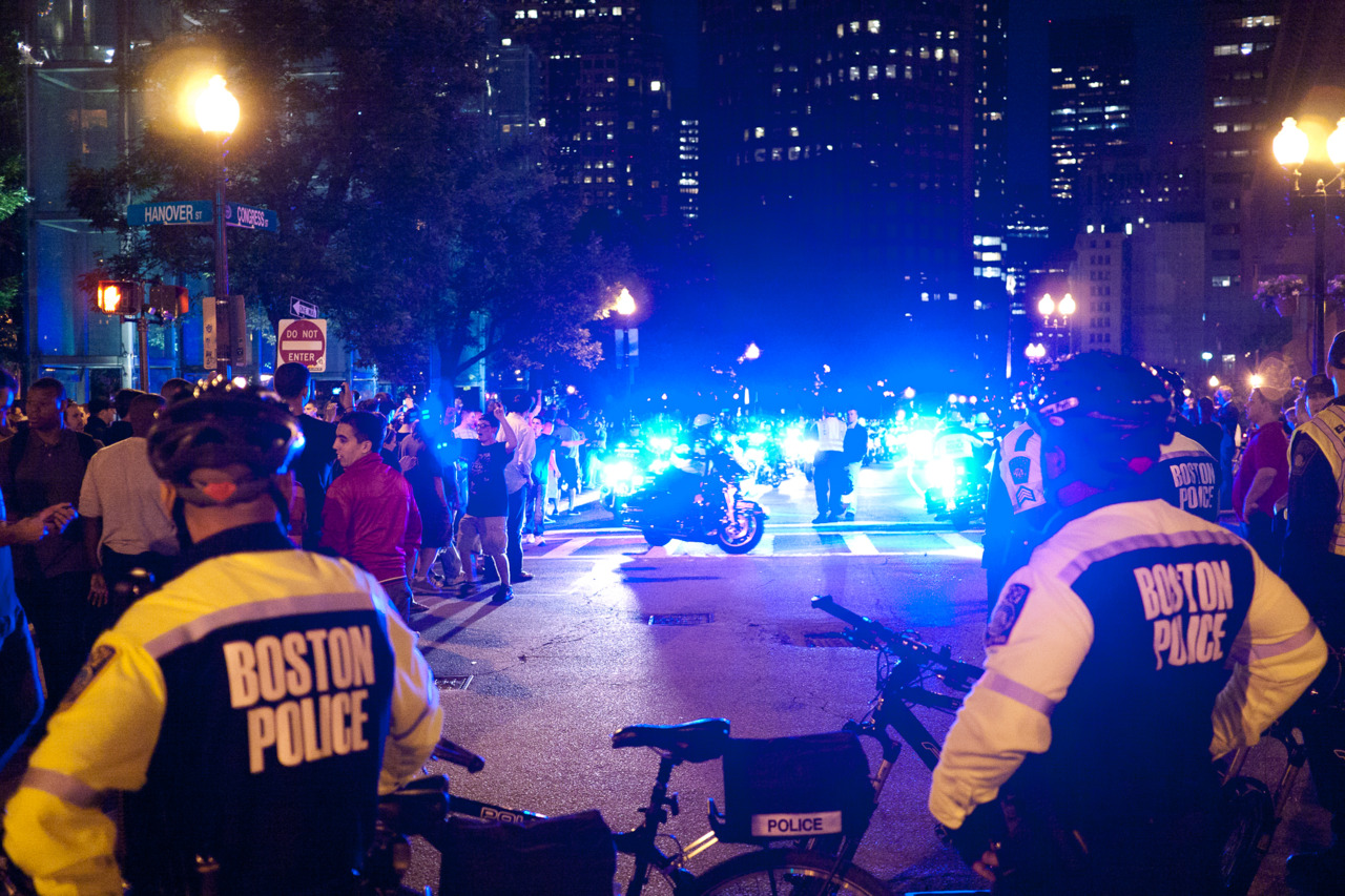 Boston Police during Bruins Celebration
