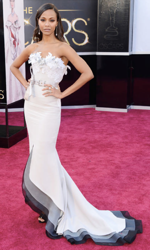 Zoe Saldana Oscars 2013