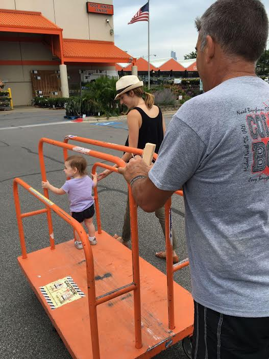 We made many a trip to Home Depot that weekend.