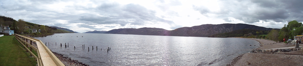 Loch Ness from shores in Dores
