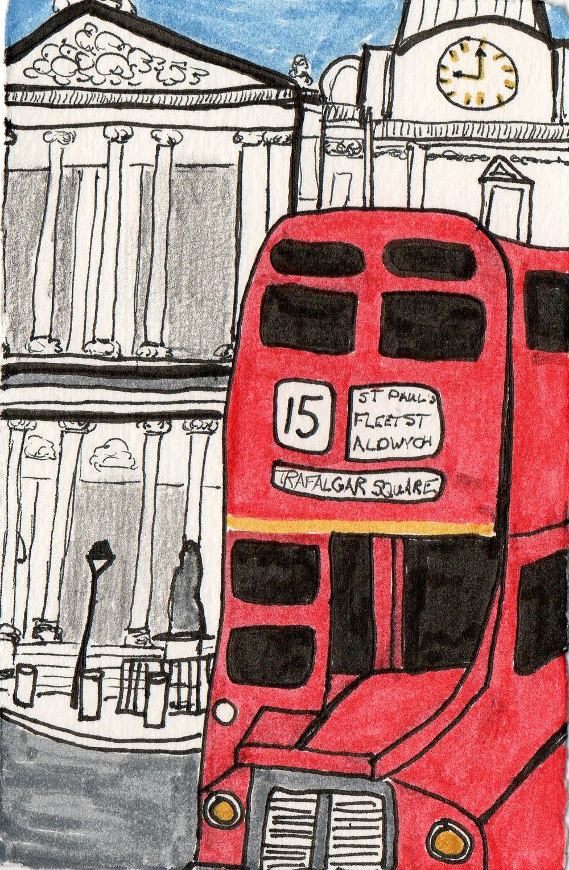 london england double decker