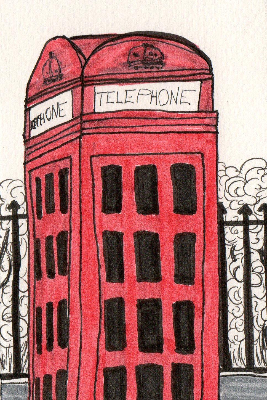 london england drawing