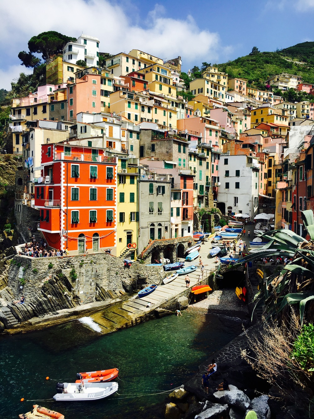colorful homes in Riomaggiore, Cinque Terre, Italy