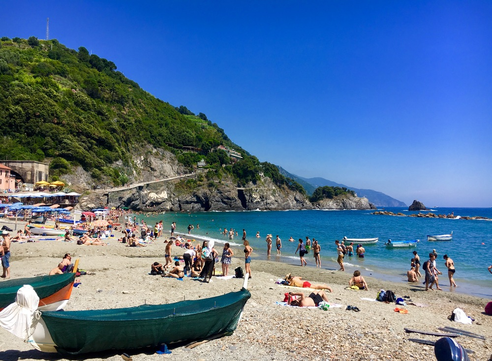 the beach at Riomaggiore, Cinque Terre, Italy