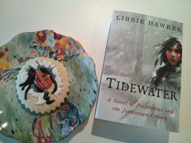 Edible Pocahontas chills beside the Lake Union edition's paperback. Yay!