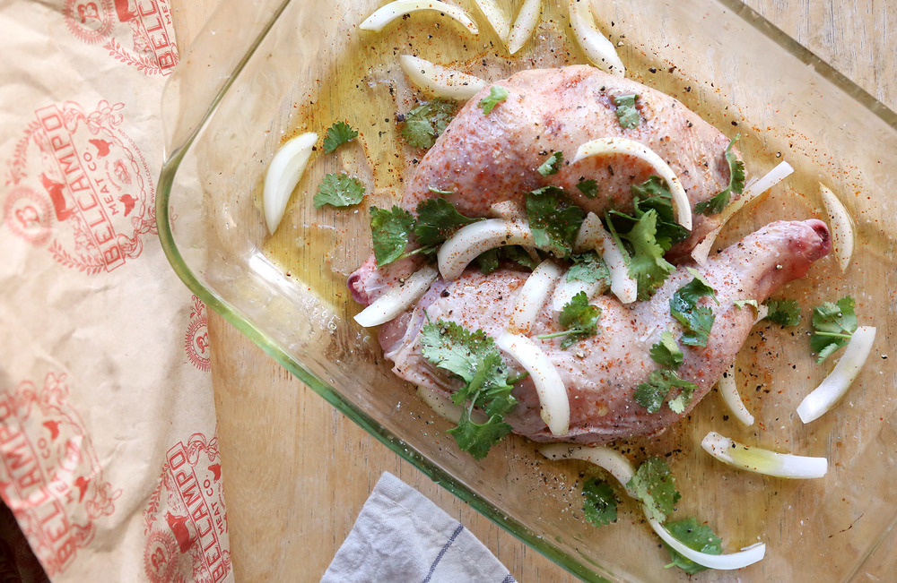 Simple and delicious roasted chicken recipe.