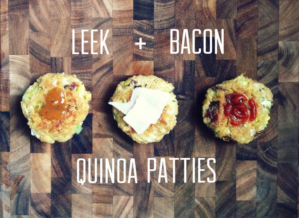 Leek + Bacon Quinoa Patties