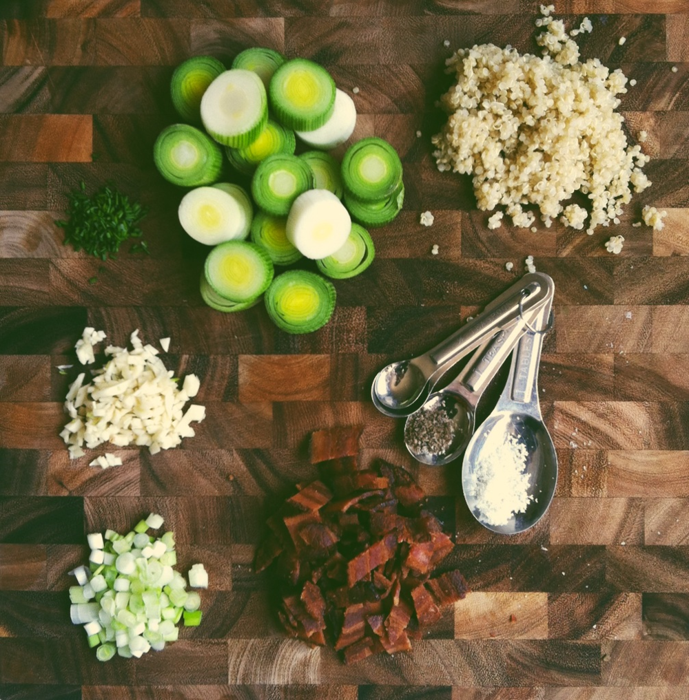 Leek + Bacon Quinoa Patty Ingredients.png