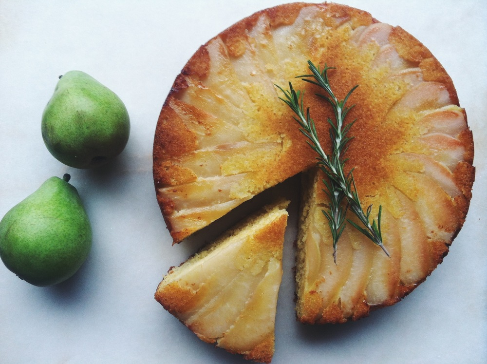 Local Haven Upside Down Pear Cake