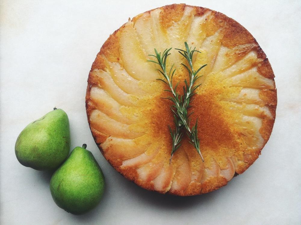TFC upside pear cake7.JPG