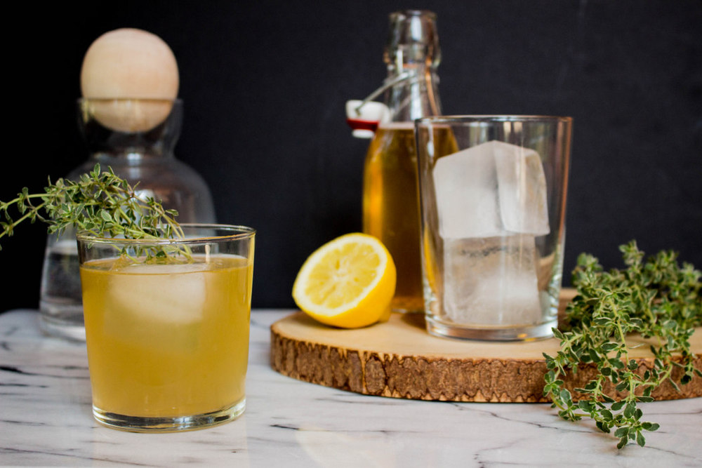 Kombucha Thyme Cocktail || Local Haven