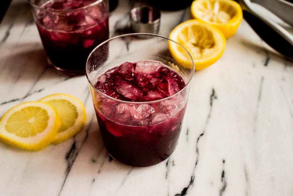 Beet Balsamic Shrub Cocktail