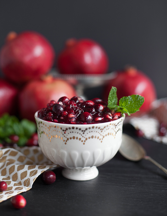 Pomegranate Cranberry Relish with Mint