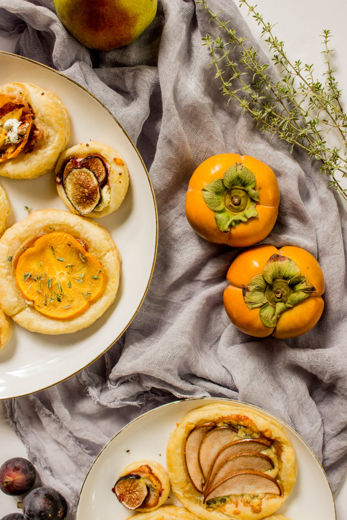Persimmon, Fig + Pear Tart