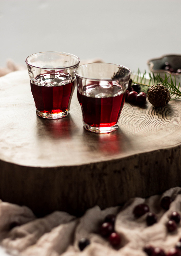 Cranberry Bourbon Cocktail with Doug Fir Syrup-13.jpg