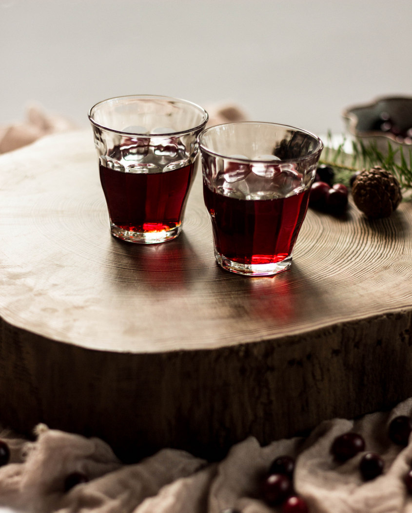 Cranberry Bourbon Cocktail with Doug Fir Syrup-12.jpg