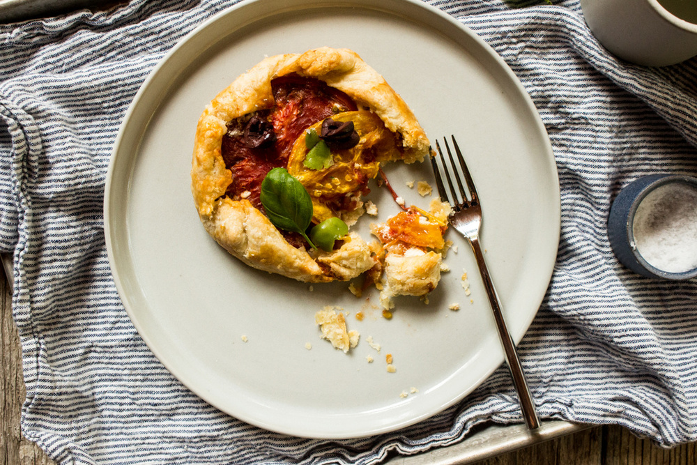 Goat Cheese Tomato Galette