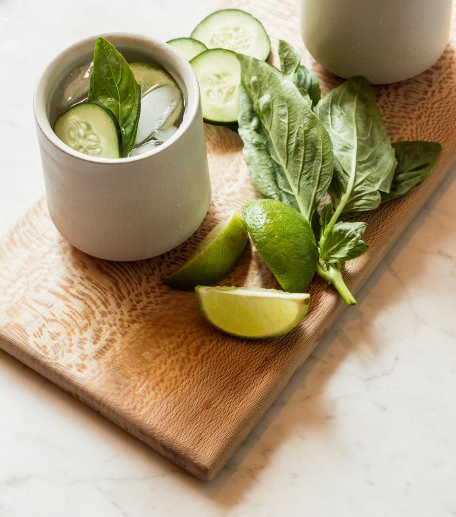 Basil-Cucumber Gin + Tonic