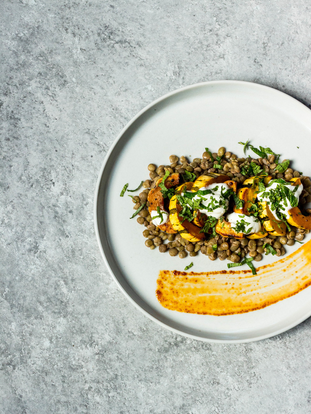 Harissa-Cumin Roasted Delicata Squash over Lentils with Yogurt + Mint (1 of 1).jpg