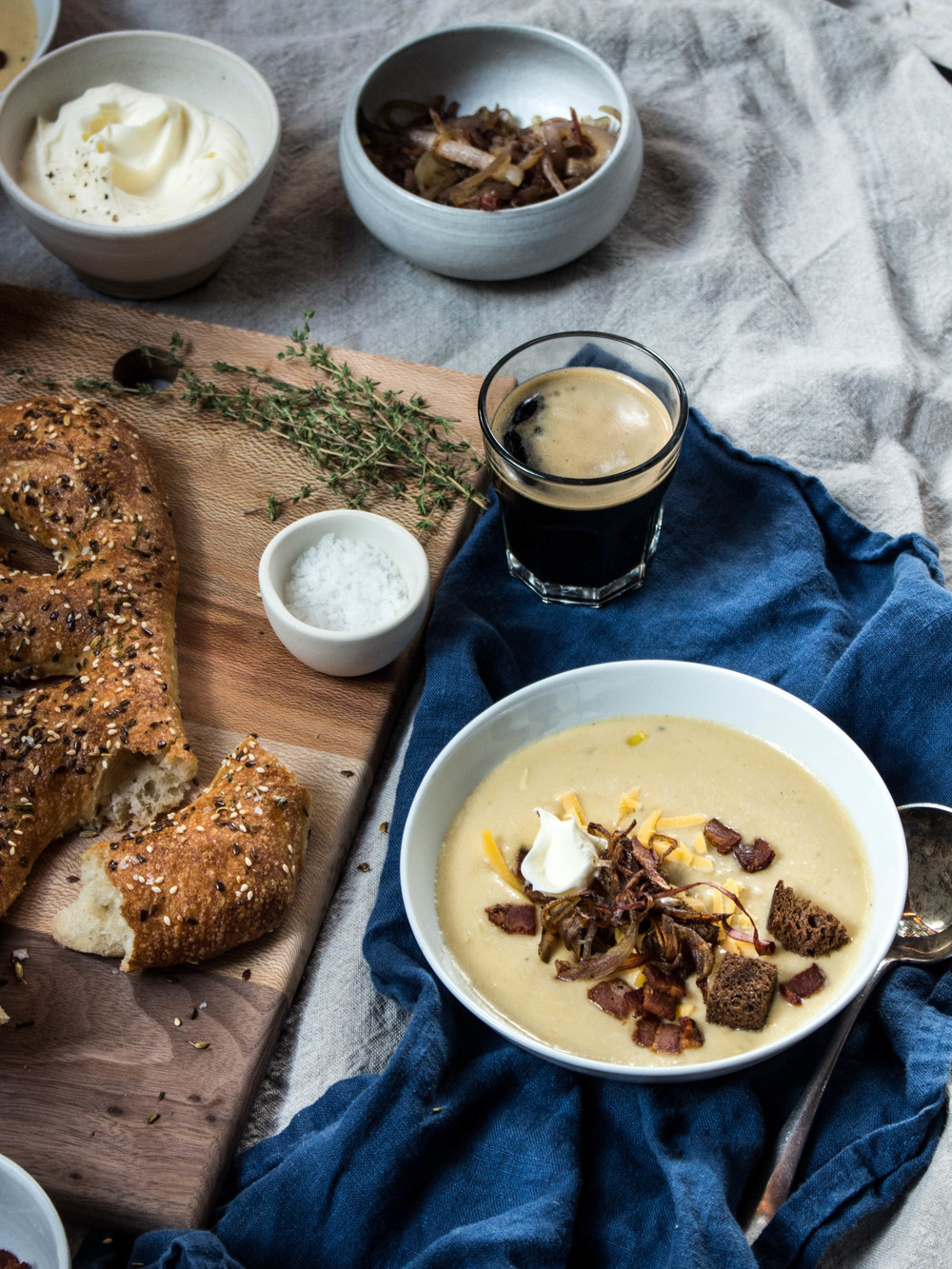 Apple Cheddar Beer Soup Recipe