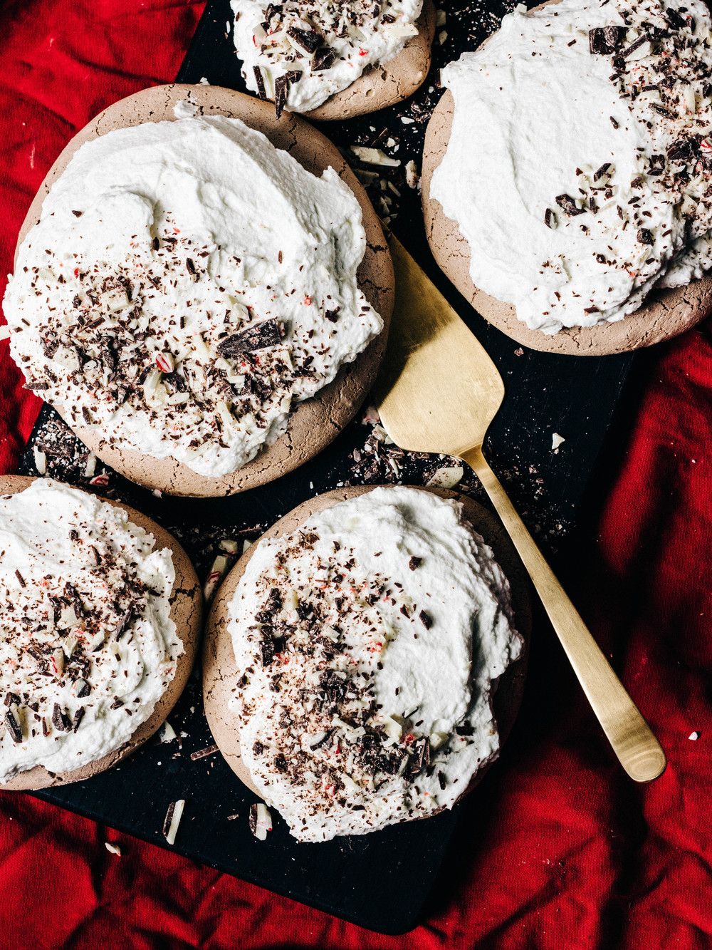 Chocolate-Peppermint Bark Pavlova