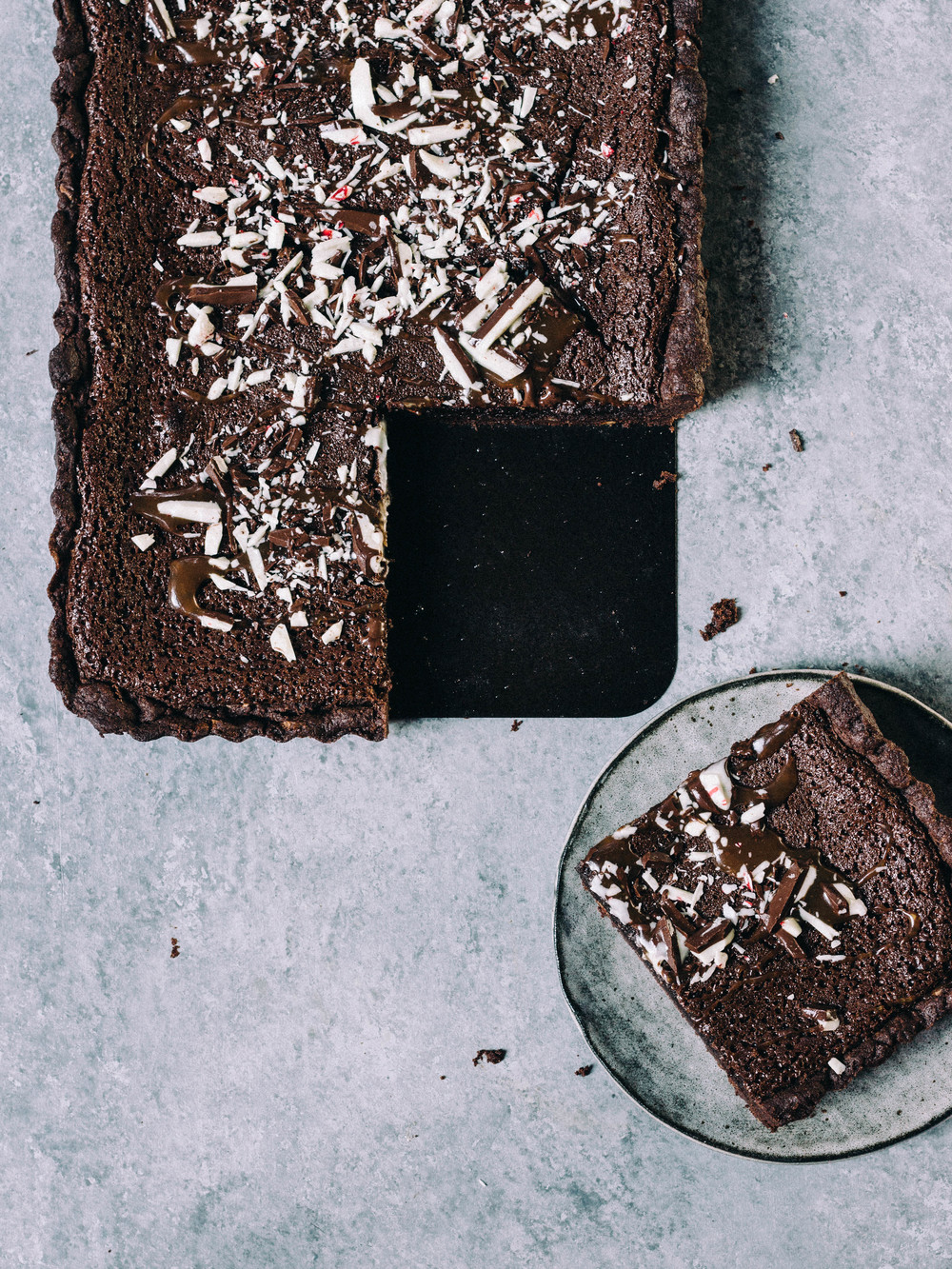 Chocolate Tart with Peppermint Crust