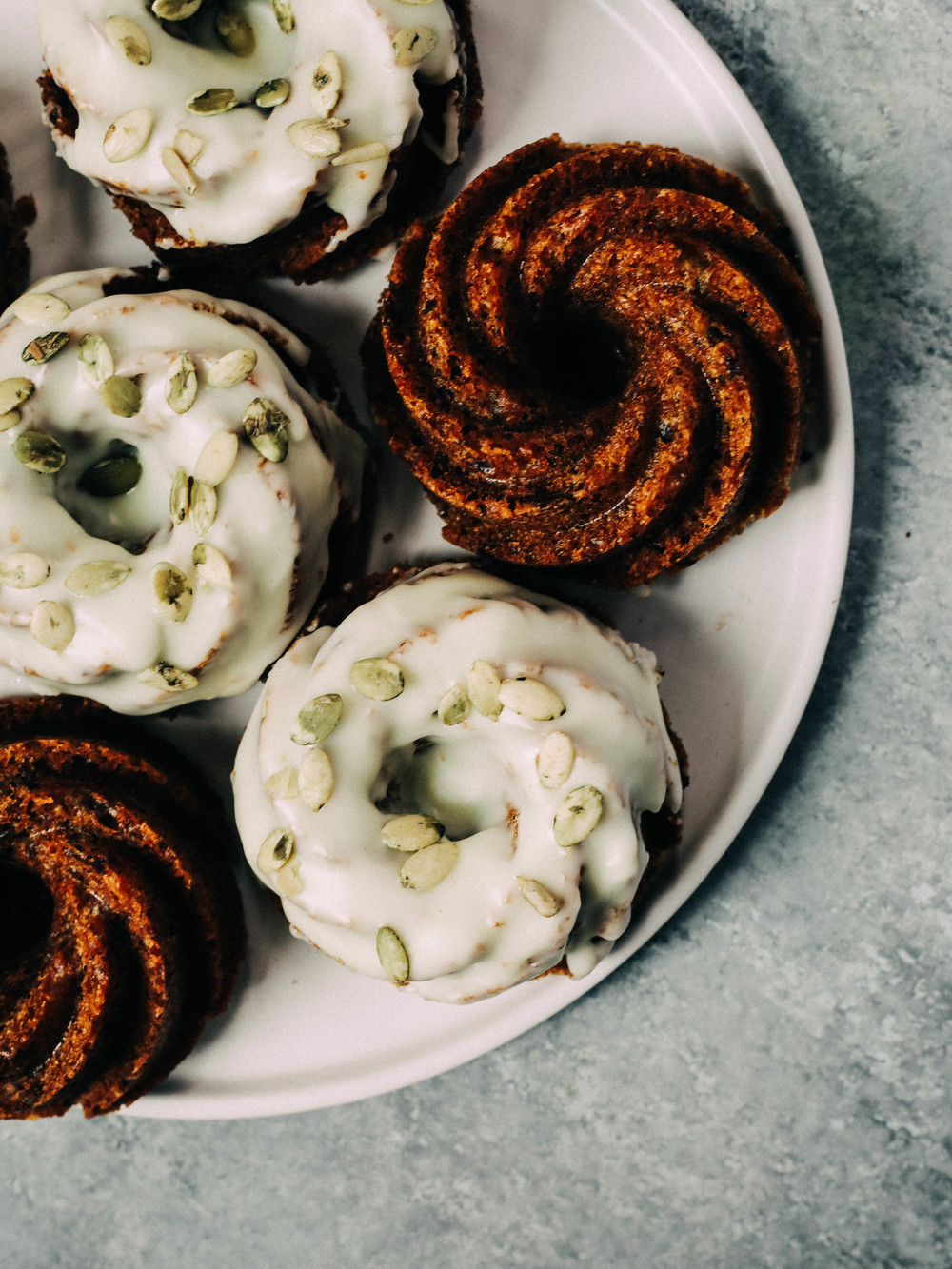 Kabocha, Olive Oil Chocolate Cakes with Olive Oil Glaze