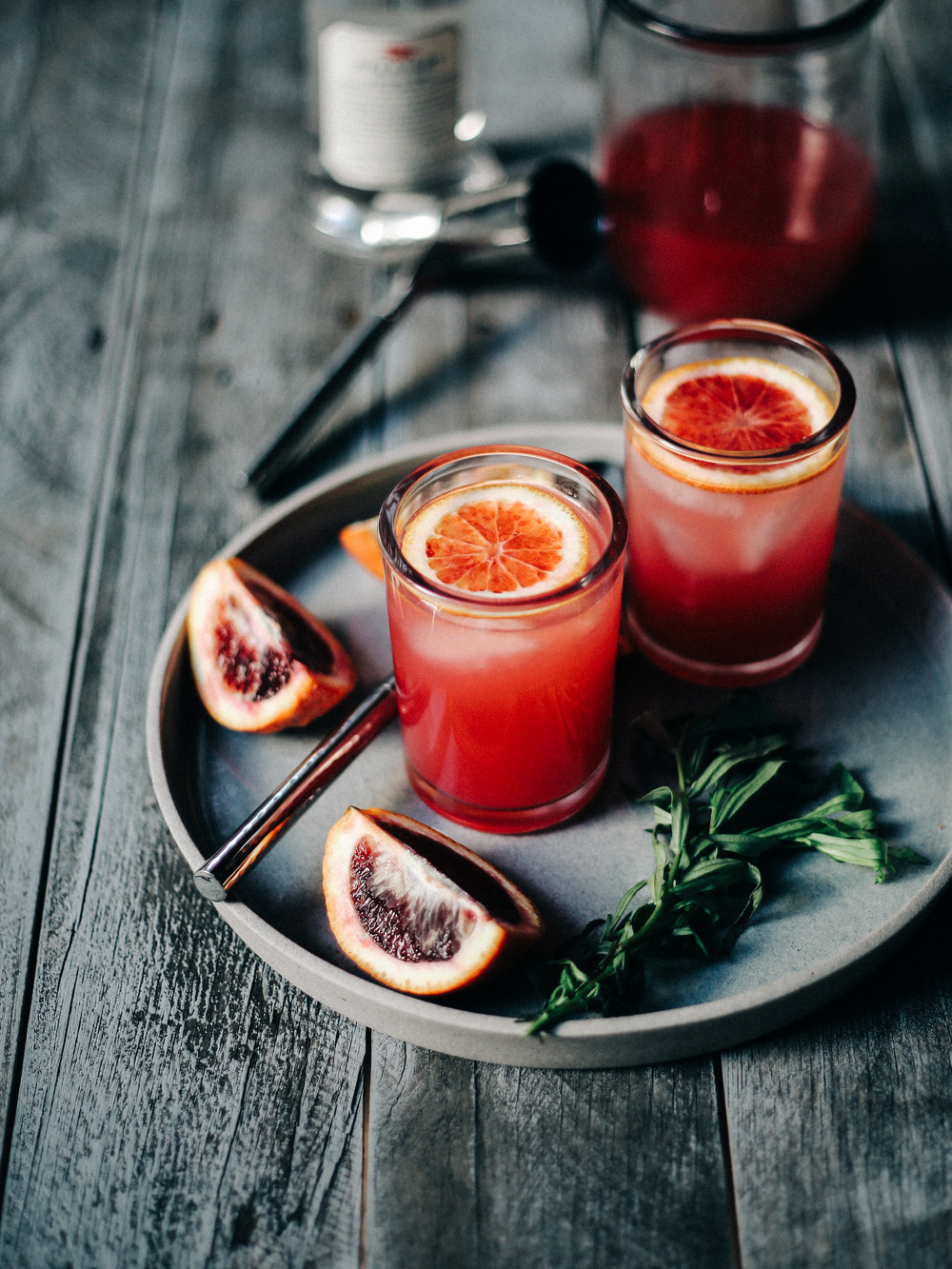 Blood orange sparkling vodka local haven for Drinks with simple syrup and vodka