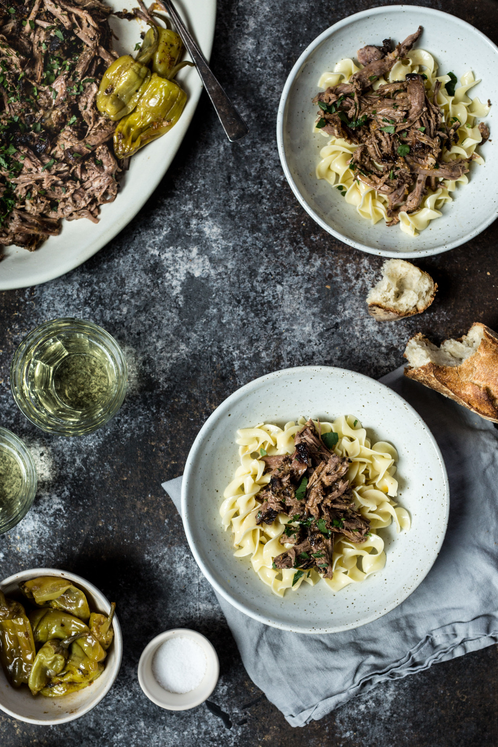 Roast with Noodles + Parsley