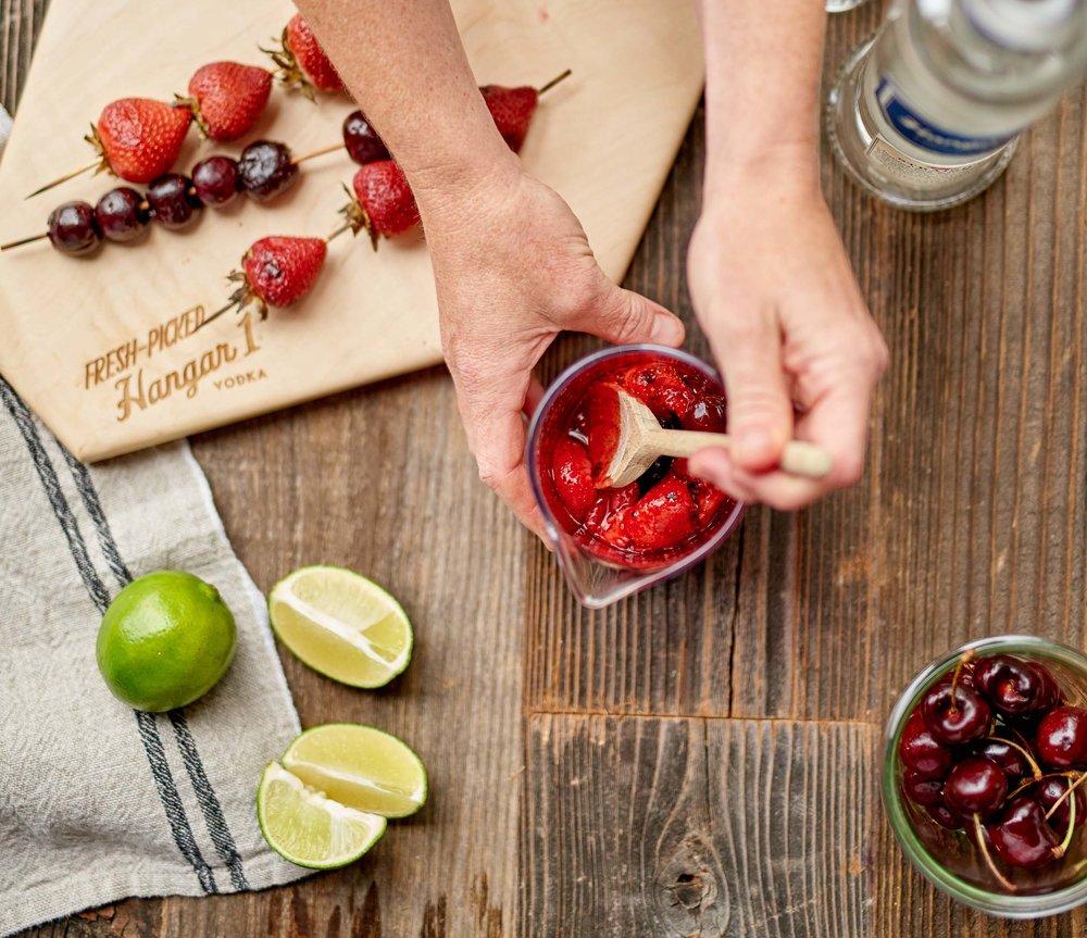 Roasted Berry Vodka Smash
