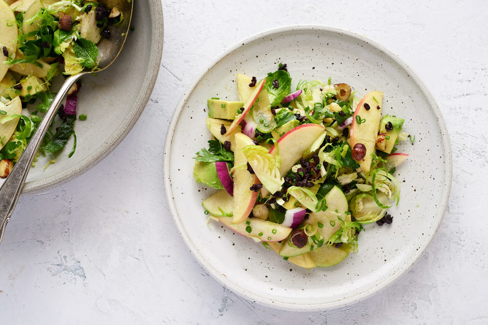 Brussels Sprout + Apple Salad