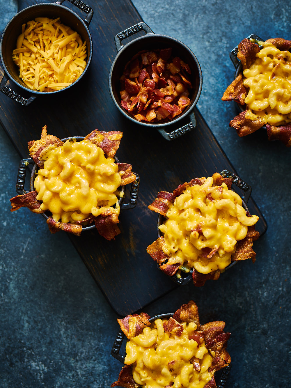 Bacon Mac + Cheese Cups