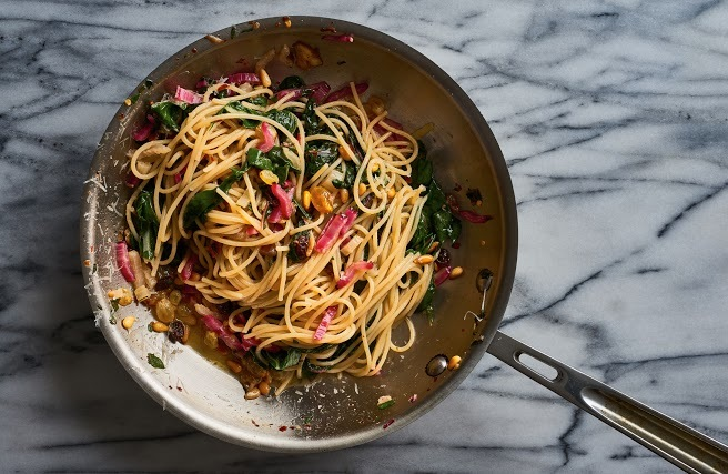 Spaghetti w swiss chard pine nuts raisins and chilies_32.jpg