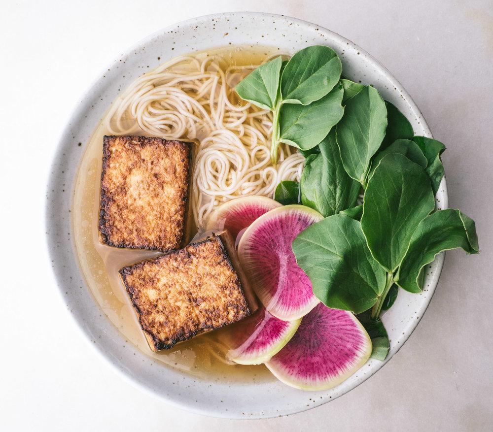 Crispy Tofu Spring Noodle Bowl - Local Haven