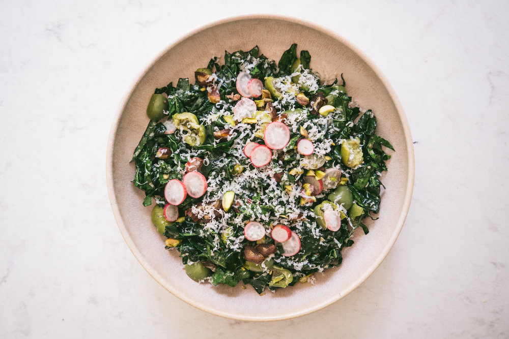 Clean Out the Fridge Kale Salad || Local Haven