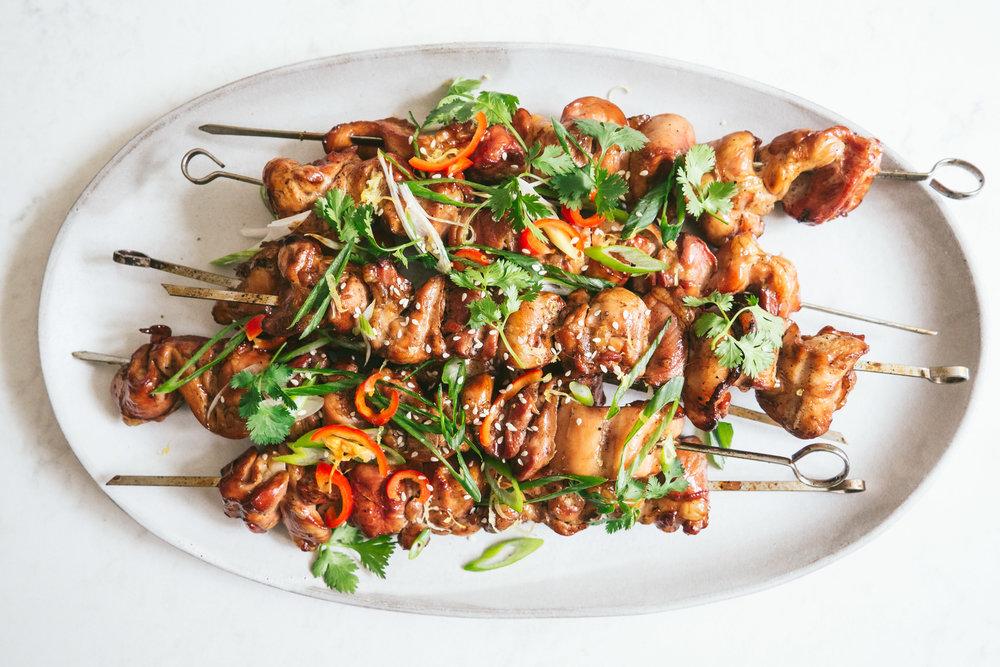 Honey Soy Chicken Skewers