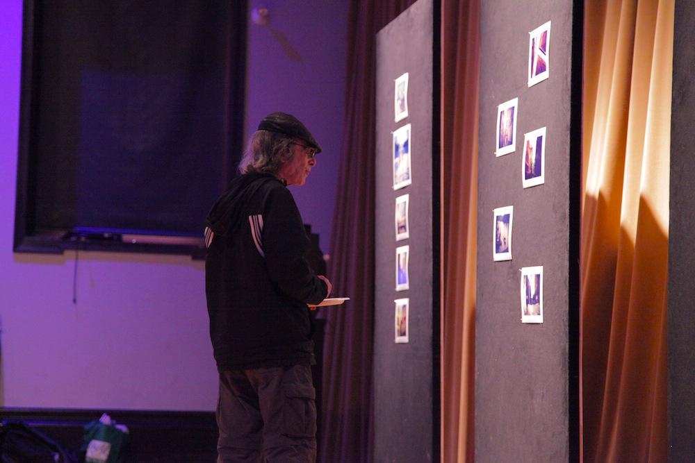 MassArt Film/Video Professor Saul Levine at Geena Matuson's (@geenamatuson) thesis film 'My Big Bad Wolf' at Massachusetts College of Art & Design, 2013.