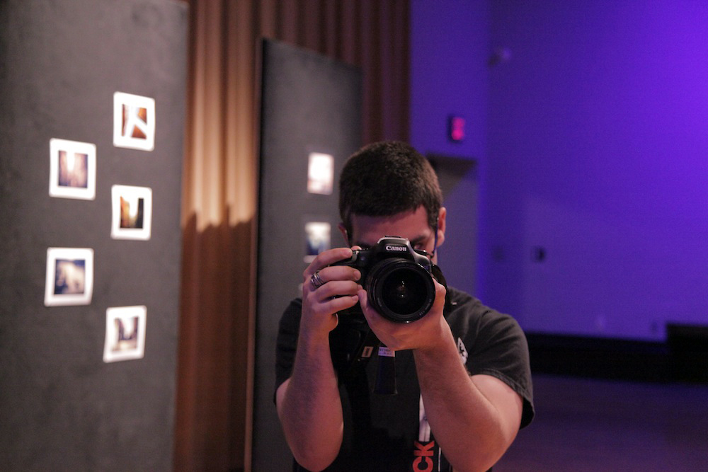 Miguel Macaya documenting premiere of Geena Matuson's (@geenamatuson) thesis film 'My Big Bad Wolf' at Massachusetts College of Art & Design, 2013.