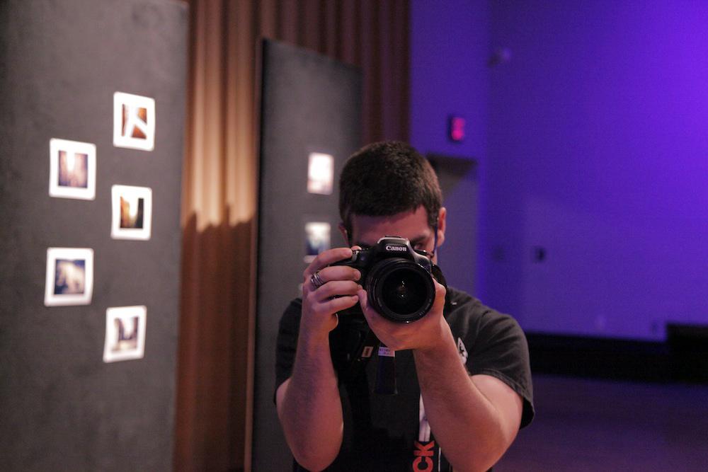 Miguel Macaya documenting premiere of Geena Matuson's (@geenamatuson) thesis film 'My Big Bad Wolf' at Massachusetts College of Art & Design, 2013.