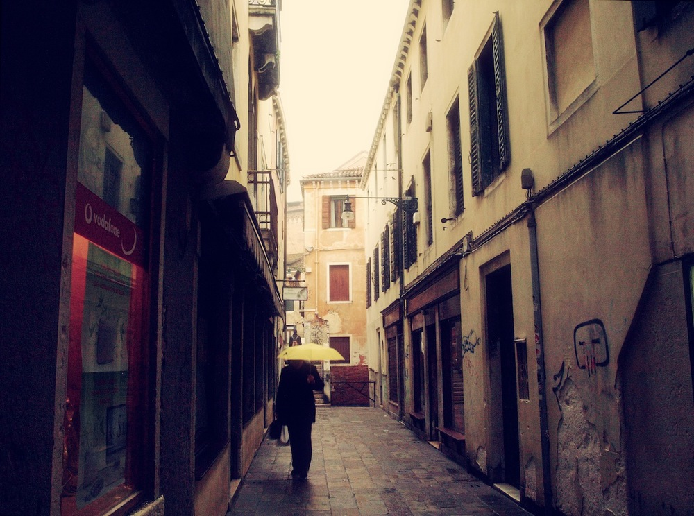 Alley In Yellow  / Part of 'Trip To Italy' series by Geena Matuson @geenamatuson, 2011.