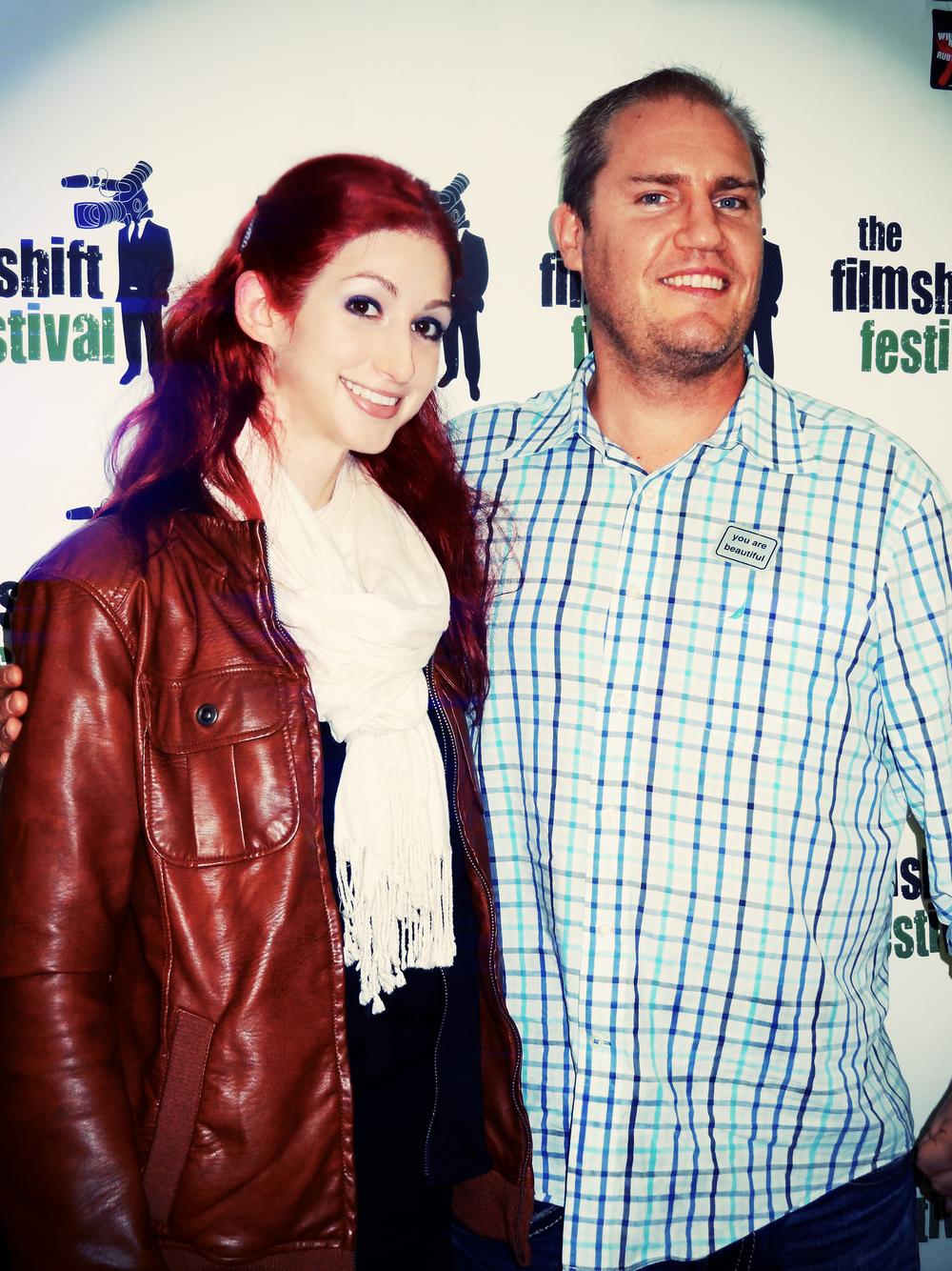Geena Matuson (@geenamatuson) with FilmShift Producer Jed Hammel, 2013.