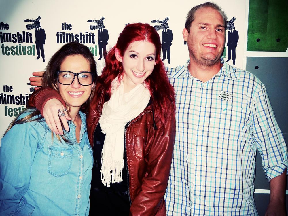 Geena Matuson (@geenamatuson) with Boston-based video editor Tara Neves and FilmShift Producer Jed Hammel, 2013.