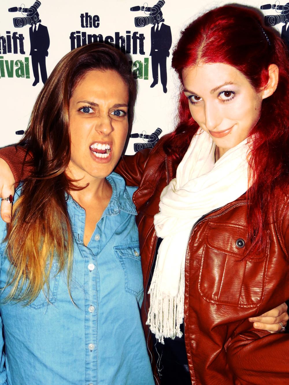 Geena Matuson (@geenamatuson) with Boston-based editor Tara Neves, 2013.