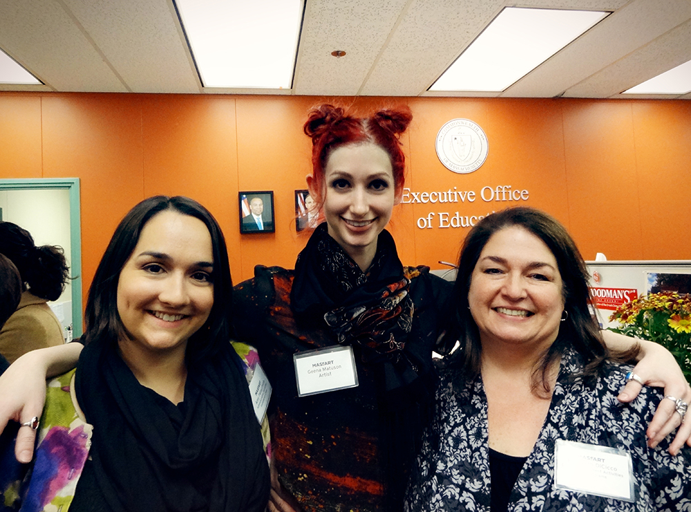 Amy, Geena Matuson (@geenamatuson) and Elizabeth DiCicco, the women who coordinated the Executive Office of Education Art Exhibition, 2013.