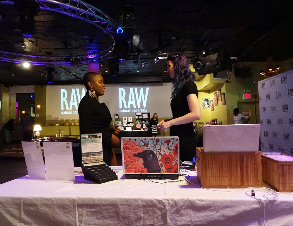 Geena Matuson with Victoria Antoine at RAW Artists, May 2014.