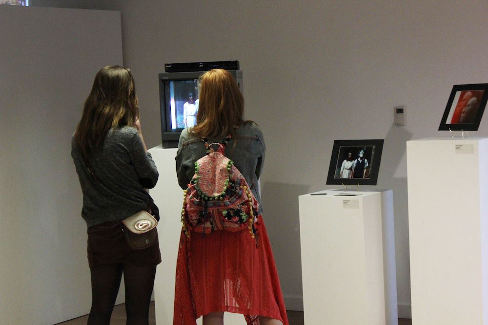 Show attendees Geena Matuson's curated multimedia exhibition 'TransFIREmation', April 2013.