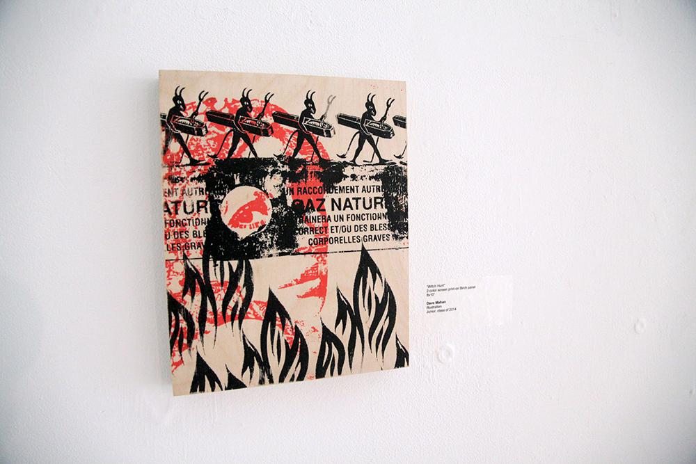 Dave Mahan / wood print