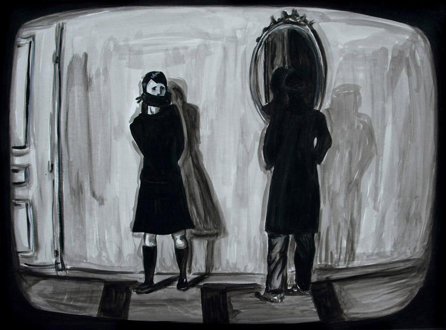 """Bande a Part I 15 x 20"""", Gouache / Illustration by Geena Matuson @geenamatuson"""